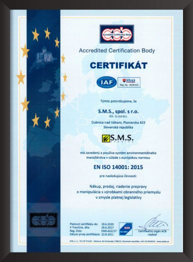ISO 14001 SMS Dubnica